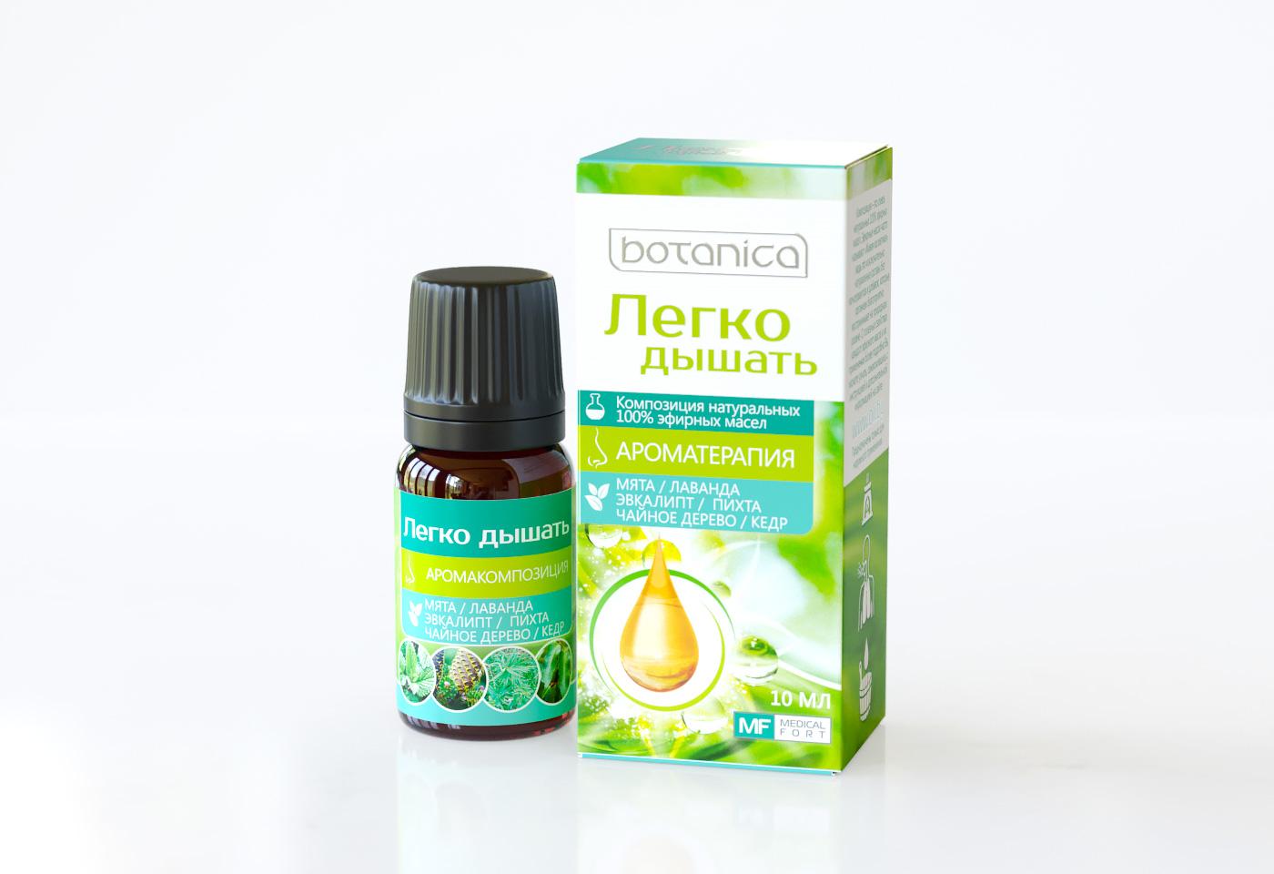 Упаковка эфирное масло Botanica «Легко дышать»