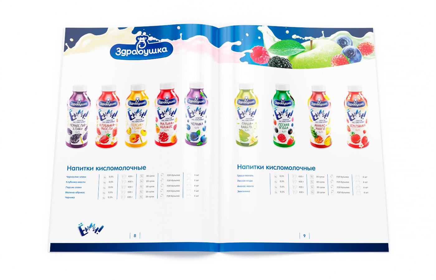 Здравушка-милк - каталог молочной продукции