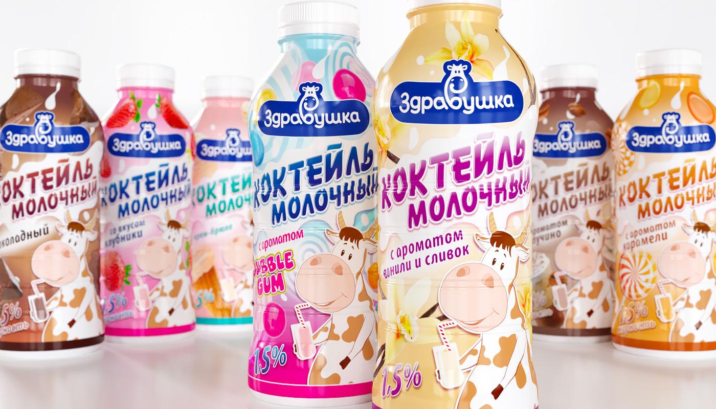 Здравушка-милк - упаковка молочный коктейль