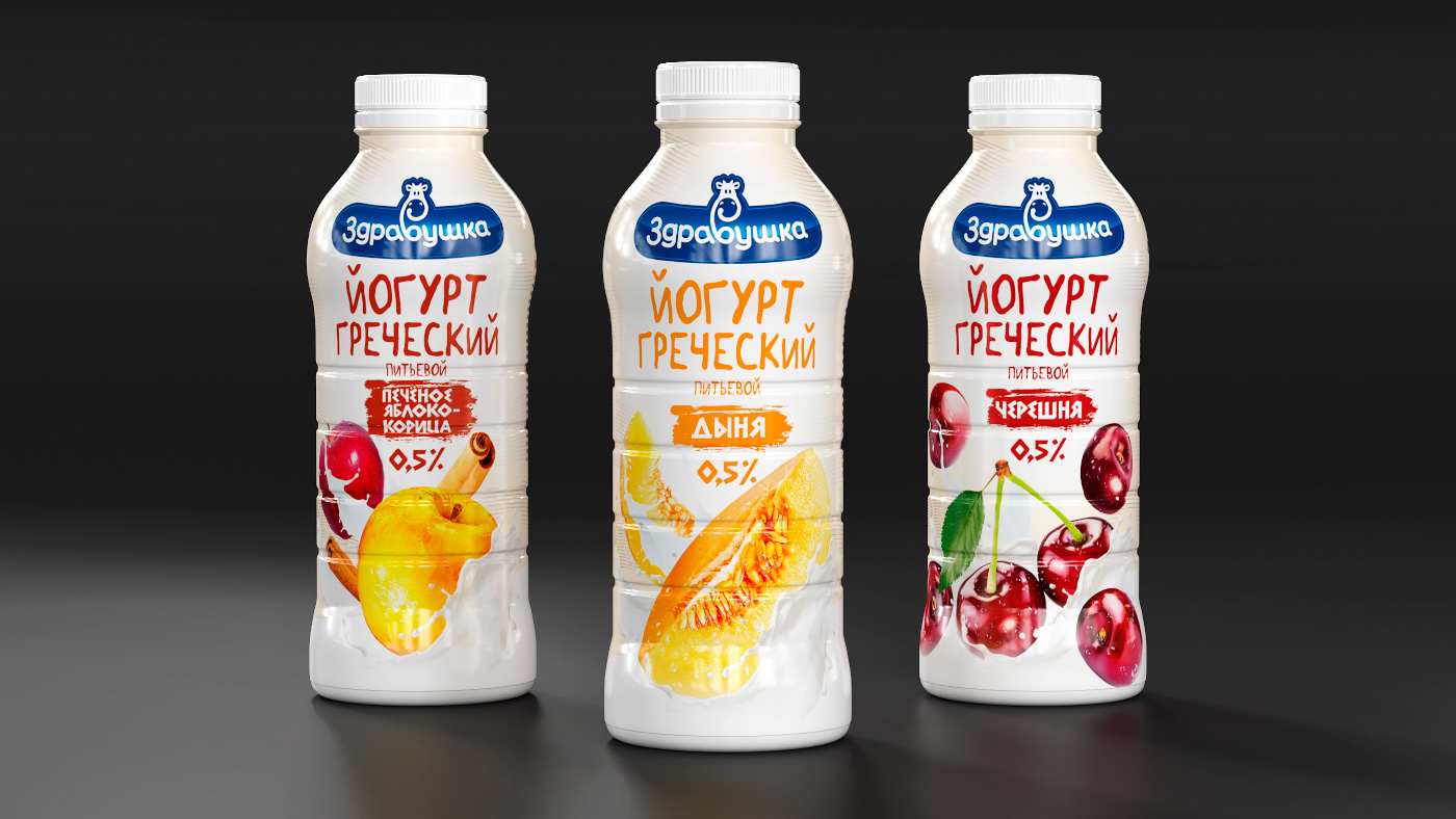 Здравушка-милк - упаковка Греческий йогурт